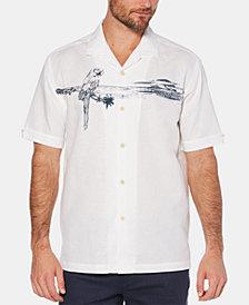 Cubavera Men's Embroidered Tropical-Print Linen Camp Shirt