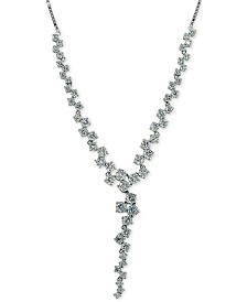 "Giani Bernini Cubic Zirconia Scatter Lariat Necklace in Sterling Silver, 16"" + 2"" extender, Created for Macy's"