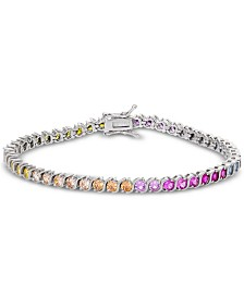 Giani Bernini Cubic Zirconia Rainbow Tennis Bracelet in Sterling Silver, Created for Macy's