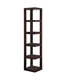 Venetian Worldwide Lawrene Corner Bookcase