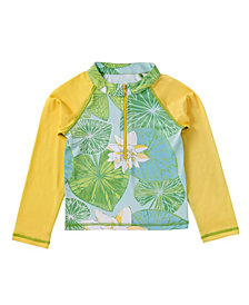 Masala Baby Girl's Longsleeve Baby Rashguard Long Sleeves Lily Pond Green