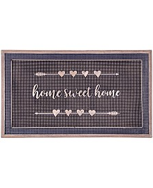 """Fab Habitat Doormat Home Sweet Home Gold Painted 18"""" x 30"""", Rubber, Durable"""
