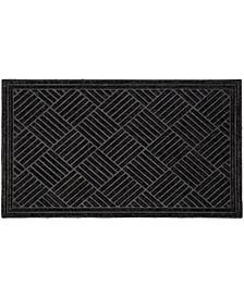 """Doormat Textured Parquet 24"""" x 36"""", Shoe Scraper, Durable"""