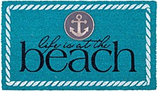 """Doormat Life Is At The Beach 18"""" x 30"""", Non-Slip, Durable"""