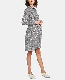 Maternity Belted Shirtdress