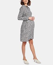 Isabella Oliver Maternity Belted Shirtdress