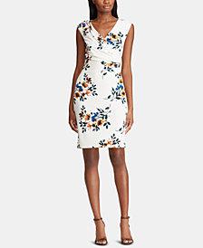Lauren Ralph Lauren Floral-Print Ruched Dress