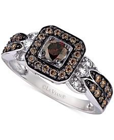 Chocolate and Vanilla Diamond Ring (3/4 ct. t.w.) in 14k White Gold