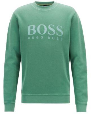 hugo boss sweatshirt green