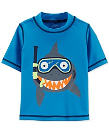 Baby Boys Shark Graphic Rash Guard