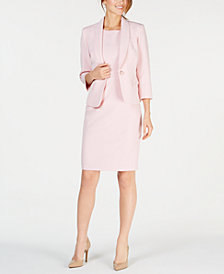 Kasper Petite One-Button Jacket & Solid Sheath Dress
