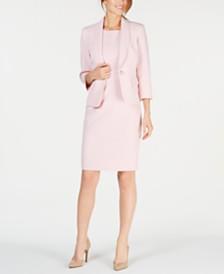a4d82f8201ad4 Kasper Petite One-Button Jacket   Solid Sheath Dress