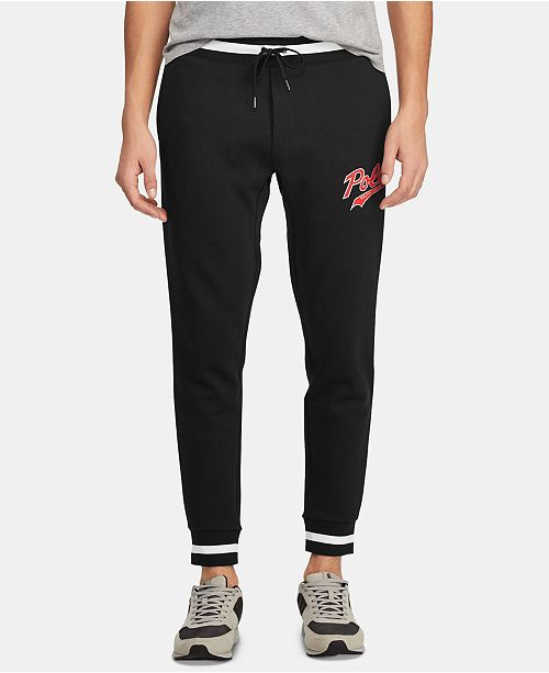 Polo Ralph Lauren Men's Double-Knit Graphic Jogger Pants, Created for Macy's