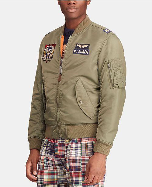 580ee6e6 Polo Ralph Lauren Men's Reversible Twill Bomber Jacket & Reviews ...