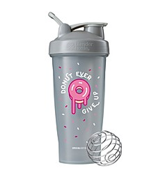 Just For Fun Classic 28-Ounce Shaker Bottle, Donut Ever Give Up