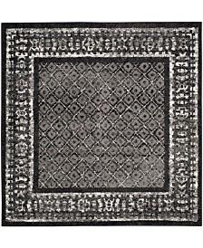 Safavieh Adirondack Black and Silver 4' x 4' Square Area Rug