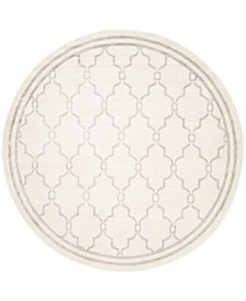 Amherst Ivory and Light Gray 5' x 5' Round Area Rug