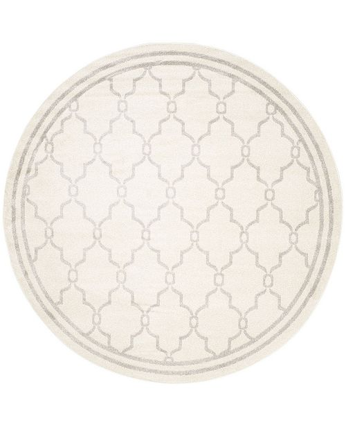 Safavieh Amherst Ivory and Light Gray 5' x 5' Round Area Rug