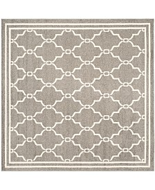 Safavieh Amherst Dark Gray and Beige 5' x 5' Square Area Rug