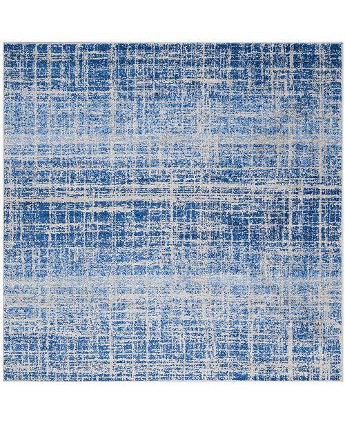 Safavieh Adirondack Blue and Silver 4' x 4' Square Area Rug