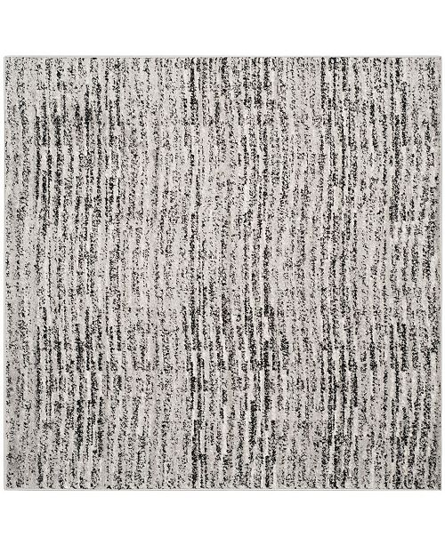 Safavieh Adirondack Black and Silver 4' x 4' Square Area Rug