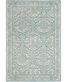 Evoke Ivory and Light Blue 10' x 14' Area Rug