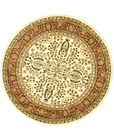 Safavieh Lyndhurst Ivory and Rust 10' x 10' Round Area Rug