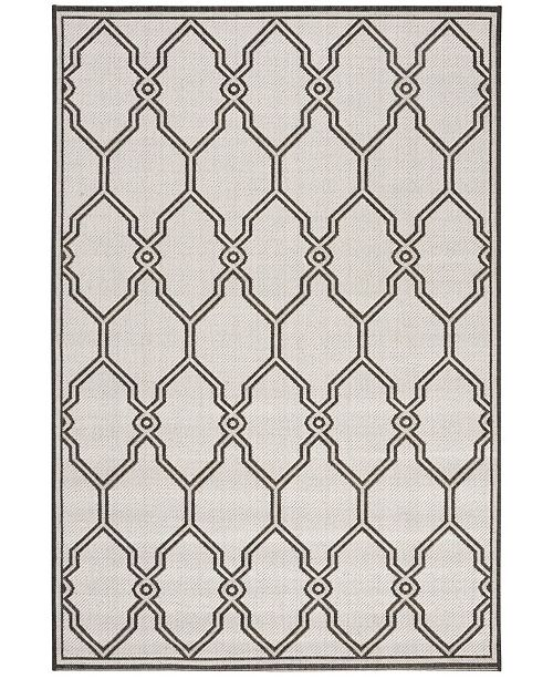 "Safavieh Linden Light Gray and Charcoal 5'1"" x 7'6"" Area Rug"