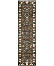 """Summit Grey and Ivory 2'3"""" x 8' Runner Area Rug"""