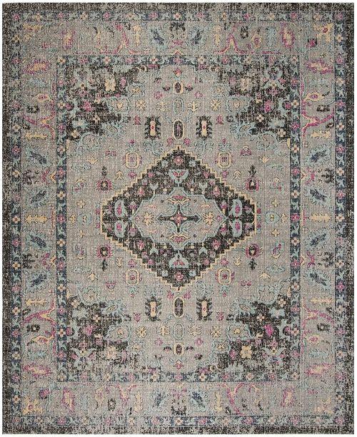 Safavieh Artisan Light Gray and Black 9' x 12' Area Rug
