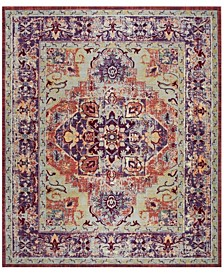 Claremont Purple and Coral 9' x 12' Area Rug