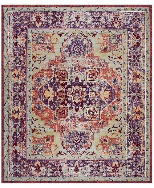 Safavieh Claremont Purple and Coral 9' x 12' Area Rug
