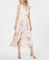 5bdc9de11f Calvin Klein Petite Floral High-Low Maxi Dress