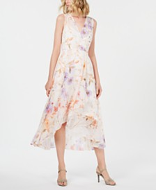 Calvin Klein Petite Floral High-Low Maxi Dress