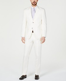 Perry Ellis Men's Slim-Fit White Suit