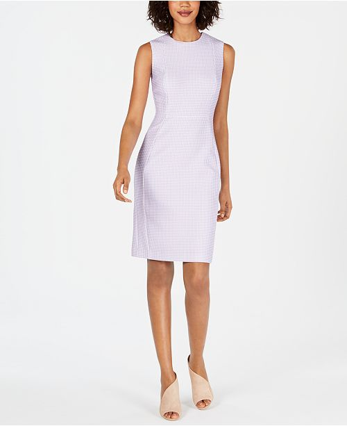 Calvin Klein Gingham-Print Sheath Dress