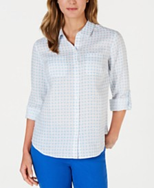 Charter Club Printed Linen Shirt, Created for Macy's