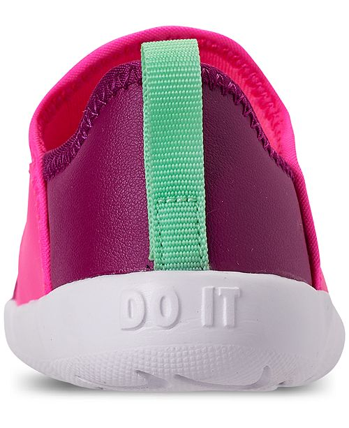 online store cc299 3188d ... Nike Toddler Girls  Lil  Swoosh Athletic Sneakers from Finish Line ...