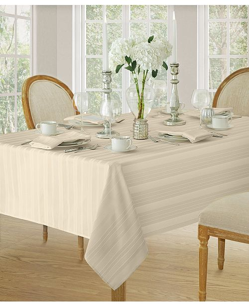 "Elrene Denley Stripe 60""x 84""  Tablecloth"