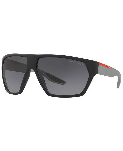 Prada Linea Rossa Polarized Sunglasses, PS 08US 67