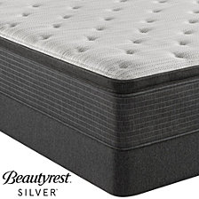 "Beautyrest Silver BRS900-TSS 14.75"" Plush Pillow Top Mattress Set - Queen with Adjustable Base, Created For Macy's"