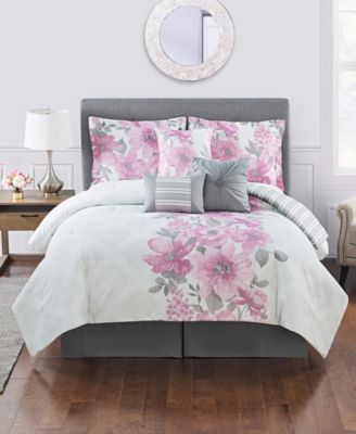 Charlize 7 Pc Queen Comforter Set