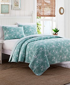 Starfish 3-Pc. Full/Queen Quilt Set