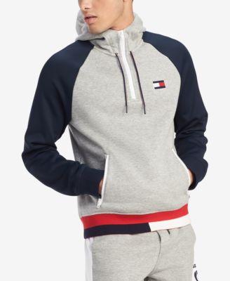 Green Tommy Hilfiger Men/'s Logo Pullover Hoodie