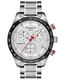 Tissot Men's Swiss Chronograph T-Sport PRS 516 Stainless Steel Bracelet Watch 42mm