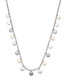 """Alfani Tri-Tone Shaky Disc Long Necklace, 32"""" + 2"""" extender, Created for Macy's"""