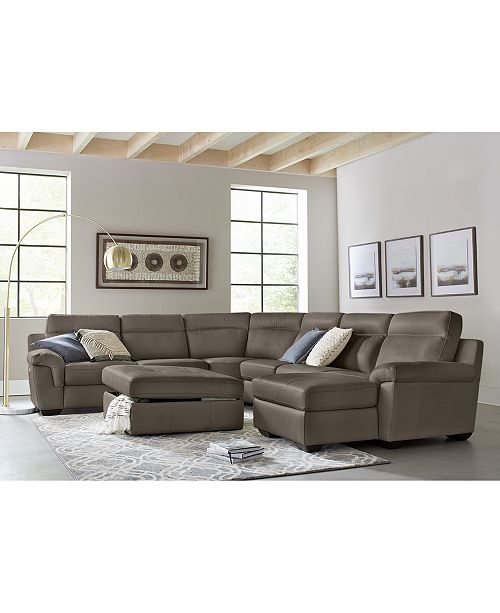 Julius Leather Power Motion Sectional Sofa Review Home Co