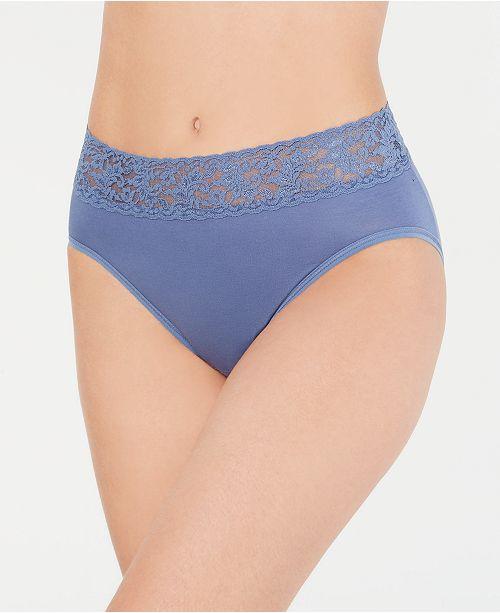 d4f56743ec1 Hanky Panky Women s Lace-Trim French Brief 892461   Reviews - Bras ...