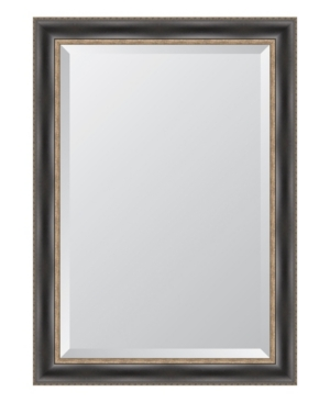 Black with Silver Emboss Framed Mirror - 30.25