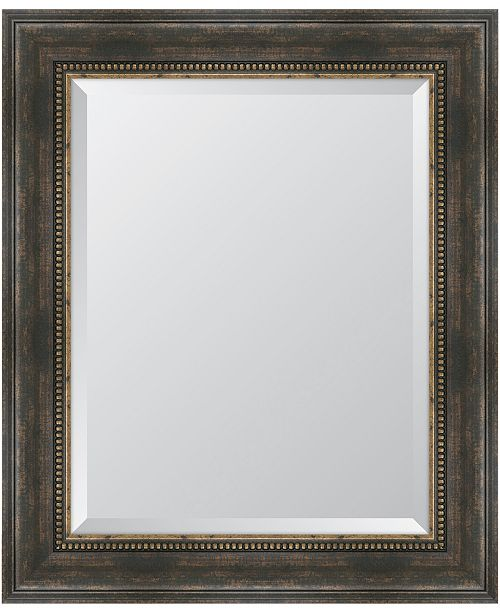 Black And Bronze Slope Framed Mirror 30 5 X 36 5 X 2